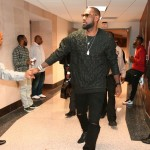 Lebron James  in  3.1  Phillip Lim Stitched silk shirt- Nba  Game 5