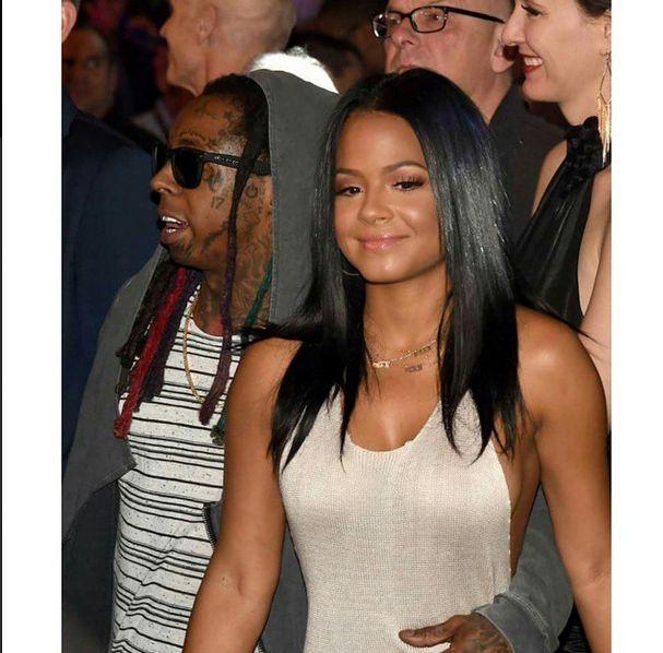 Lil-Wayne-and-Christina-Milian-at-Mayweather-Fight