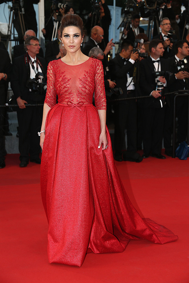 Michele -Laroque-Georges-Hobeika-stunned-in-Cannes-Festival