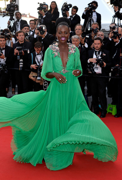 "Lupita -Nyong'o -in -Gucci- at -the- ""Standing -Tall- 68th- Cannes- Film- Festival -Premiere - Opening -Ceremony-"