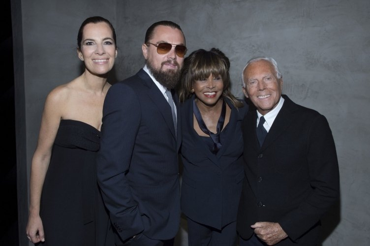 Roberta-Armani-Leonardo-DiCaprio-Tina-Turner-and-Giorgio-Armani-