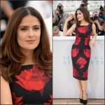 Salma Hayek In Alexander McQueen  at 'Il Racconto Dei Racconti' ('Tale of Tales') Cannes Film Festival Photocall