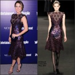 Sophia Bush In  Monique Lhuillier –  Entertainment Weekly and PEOPLE celebration of The New York Upfronts