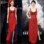 "Alexandra Daddario in Diane Von Furstenberg at San Andreas"" LA Premiere"