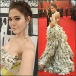 Araya A. Hargate In Giambattista Valli Couture at 'Youth' Cannes Film Festival Premiere