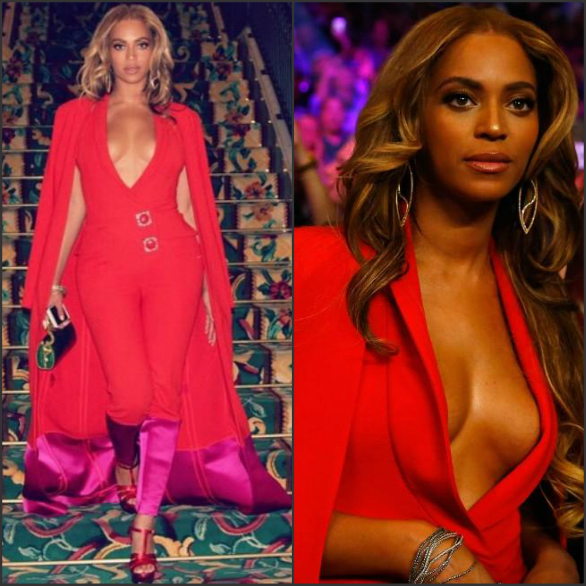 beyonce-in-harbison-at-the-floyd-mayweather-jr-vs-Manny-Pacquiao-fight