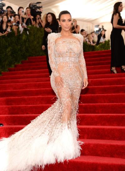 Kim Kardashian In Roberto Cavalli – 2015 Met Gala