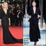 Cate Blanchett In Armani Privé at 'Sicario' Cannes Film Festival Premiere