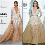 Chanel Iman In Zuhair Murad Couture at  2015 amfAR Cinema Against AIDS Gala