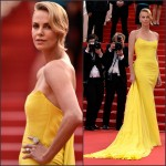 Charlize Theron In Christian Dior Couture at 'Mad Max: Fury Road' Cannes Film Festival Premiere