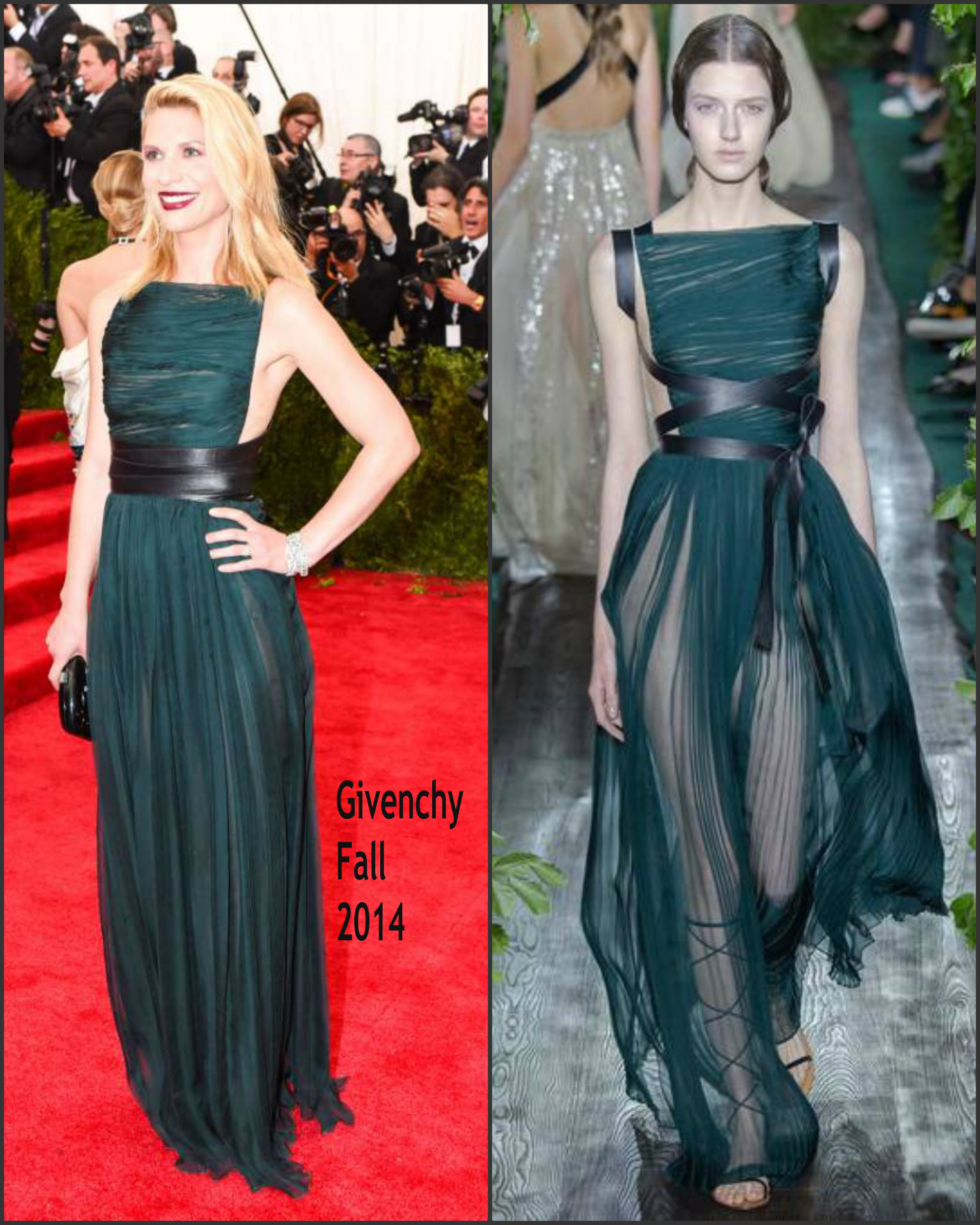 Claire Danes In Valentino Couture At The 2015 Met Gala