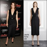 Cobie Smulders In Jason Wu  at  'Avengers: Age of Ultron' New York Screening