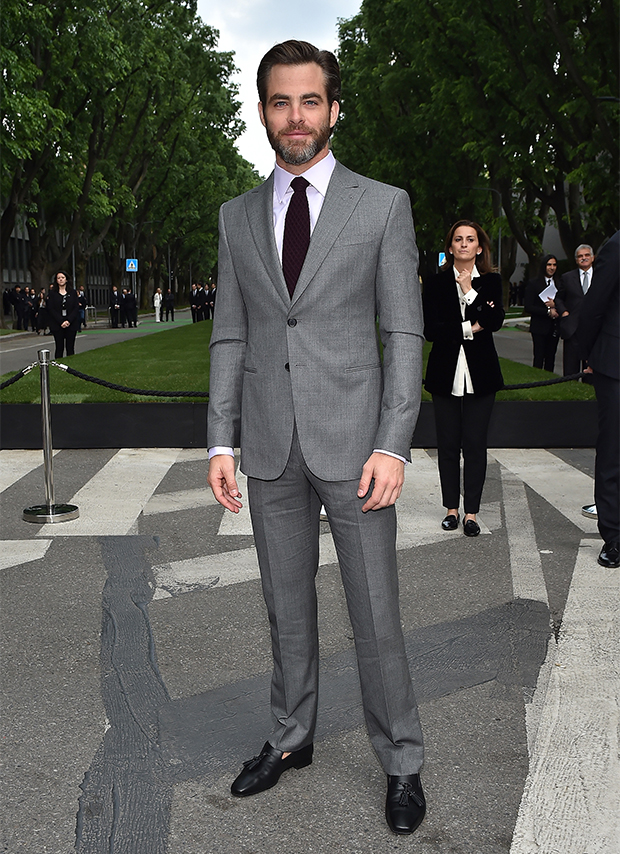 Chris -Pine--Giorgio-Armani-40th-Anniversary-Silos-Opening-And-Cocktail-Reception-