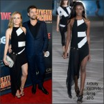 Diane Kruger In Anthony Vaccarello  at the 'Mayweather VS Pacquiao' SHOWTIME and HBO VIP Pre-Fight Party