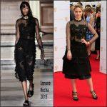 Dianna Agron In Simone Rocha & Comme des Garçons  at the 2015 BAFTA TV Awards