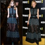 Elizabeth Banks in Elie Saab   at  'Pitch Perfect 2′ VIP Screening in London