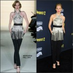 Elizabeth Banks In Marchesa  at the 'Pitch Perfect 2′ LA Premiere