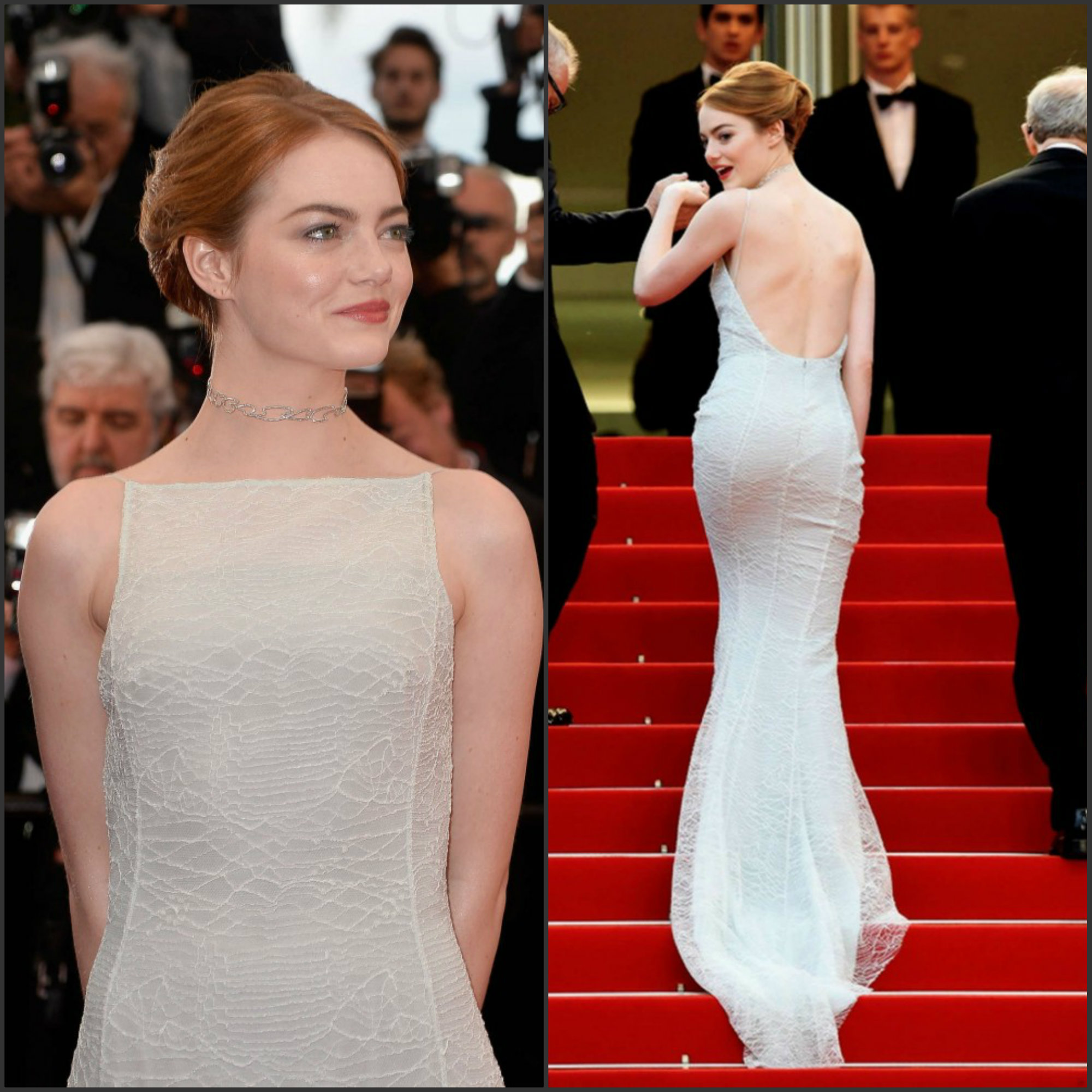 Emma Stone In Christian Dior At The Irrational Man 68th Cannes Film Festival Premiere Fashionsizzle