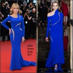 Jane Fonda In Atelier Versace  at 'The Sea Of Trees' Cannes Film Festival Premiere