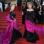 Jane Fonda In Schiaparelli Couture at  'Youth' Cannes Film Festival Premiere