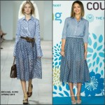 Jessica Alba In Michael Kors at  'Coupang' Press Conference