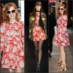 Jessica Chastain In Saint Laurent – Out In New York