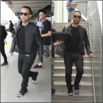John Legend  in  Givenchy Tyson  Floral Printed  Sneakers