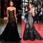 Katrina Kaif In Oscar de la Renta  at  'La Tete Haute' Cannes Film Festival Premiere & Opening Ceremony
