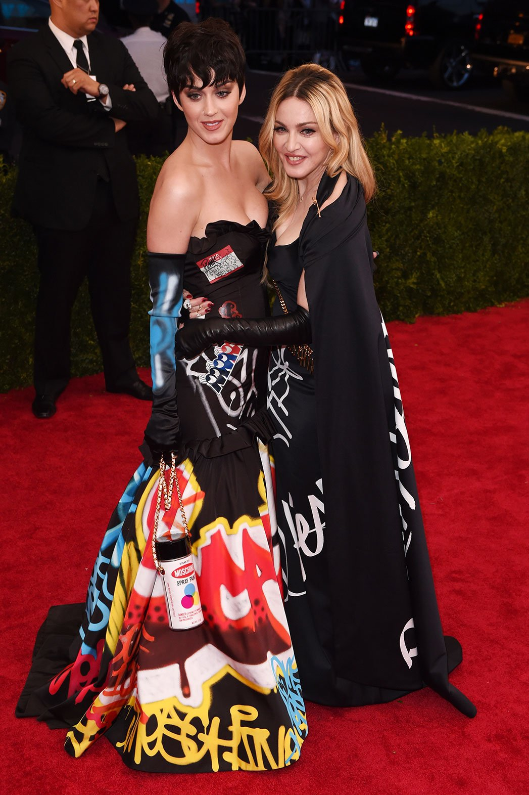 Katy Perry and Madonna both in Moschino