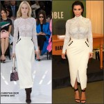 Kim Kardashian in Christian Dior at her 'Kim Kardashian West: Selfish' Book Signing