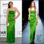 Marion Cotillard In Jean Paul Gaultier Couture at 2015 amfAR Cinema Against AIDS Gala