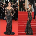 Michelle Rodriguez In Zuhair Murad  at 'Mad Max: Fury Road' Cannes Film Festival Premiere