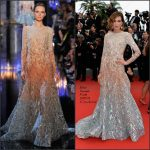 Nieves Alvarez In Elie Saab Couture  at 'Sicario' Cannes Film Festival Premiere