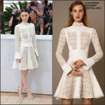 Rooney Mara In Alexander McQueen  at the  'Carol' Cannes Film Festival Photocall