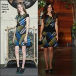 Sandra Bullock In Roland Mouret  at The Ellen DeGeneres Show