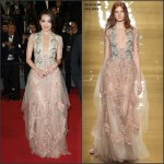 Shu Qi in Reem Acra   at the  Assassin Premiere Cannes Film Festival