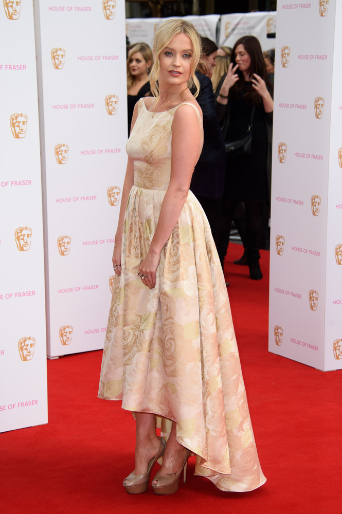 Laura -Whitmore- in -Adrianna- Papell-bafta-tv-awards-2015
