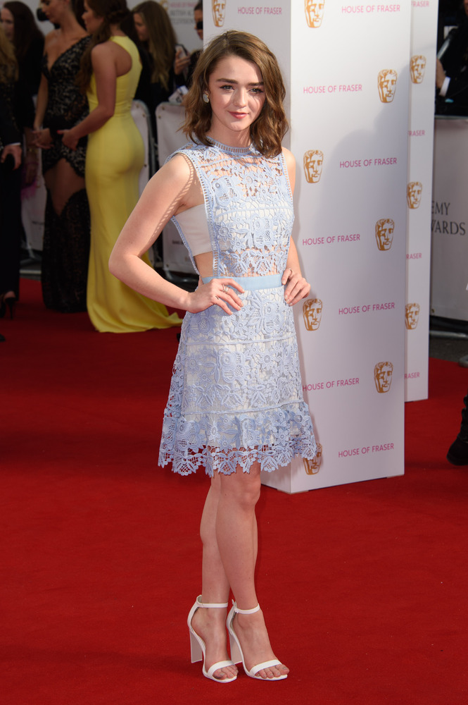 Maisie -Williams -in -Self--Portrait-bafta-tv-awards-2015