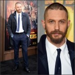 Tom Hardy In Alexander McQueen  at the 'Mad Max: Fury Road' LA Premiere