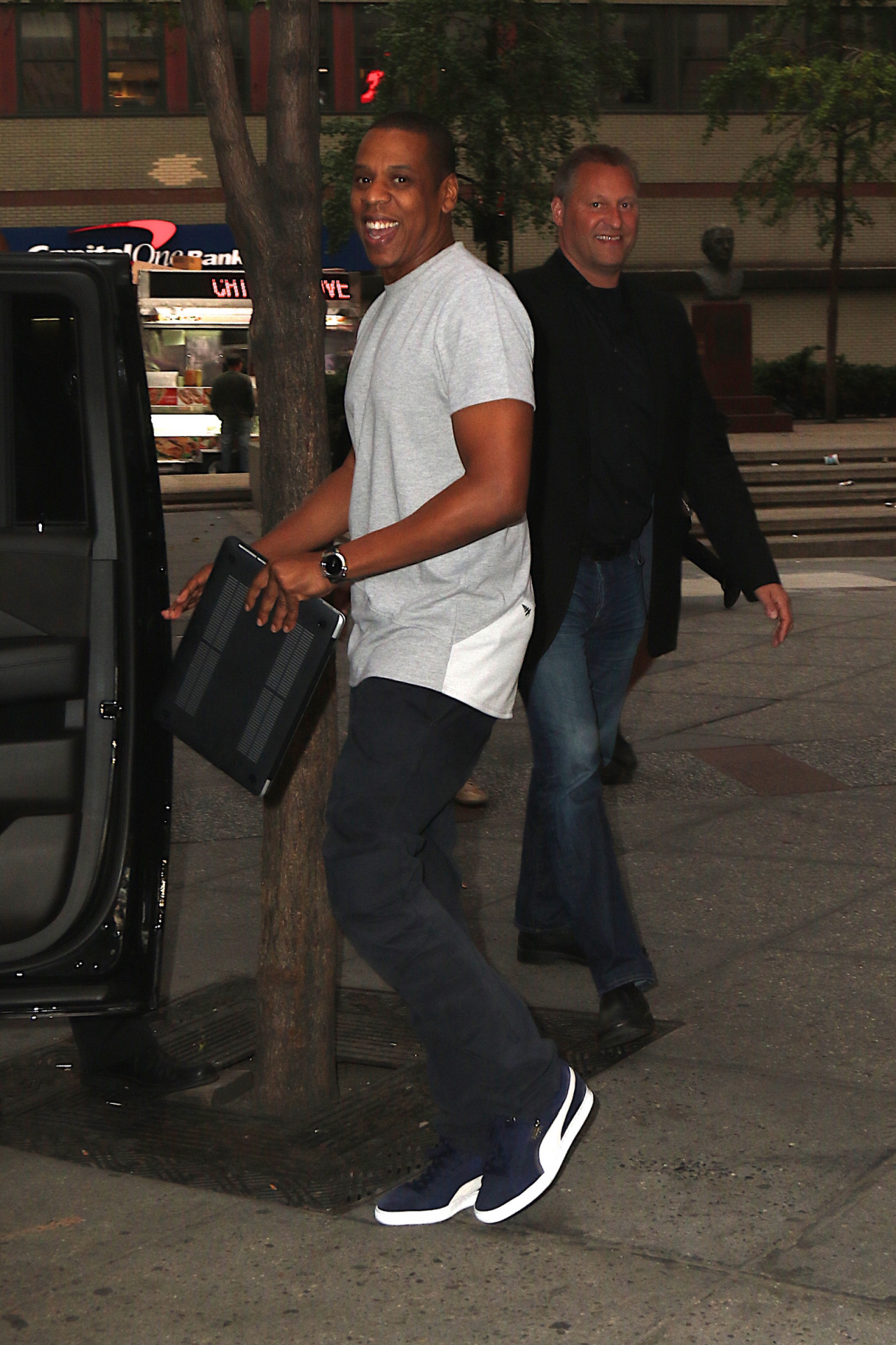 Jay Z rocks RocNation and Puma Sneakers out in NYC - Fashionsizzle 00498f2e9