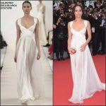 Zoe Kravitz In Valentino Sala Bianca Haute Couture  at 'Mad Max: Fury Road' Cannes Film Festival Premiere