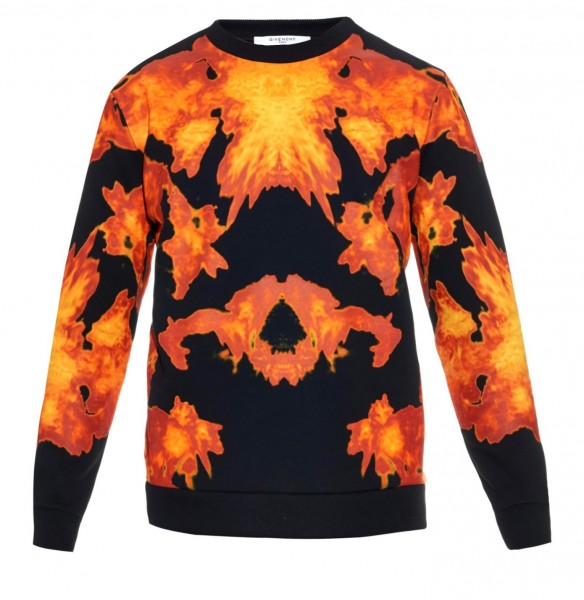 Givenchy- Flame -Print- Cuban- Fit-Cotton -Sweatshirt