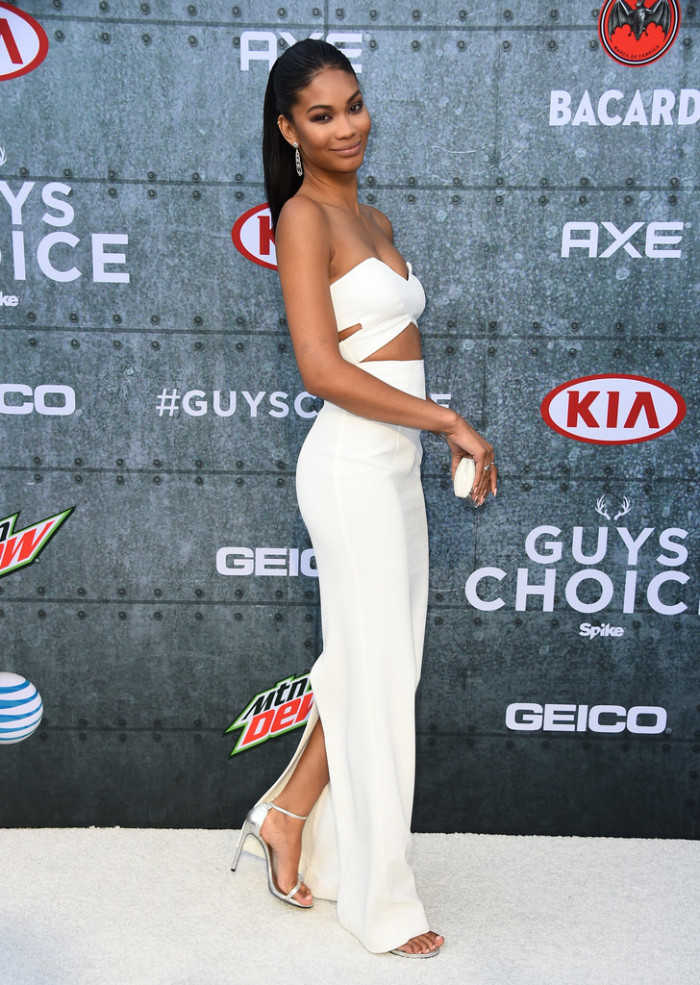 Chanel-Iman-Spike-TV-Guys-Choice-Awards-Solace-London-Strapless-Cut-Out-Dress-