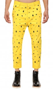 Dsquared2-yellow-embroidered-pants-