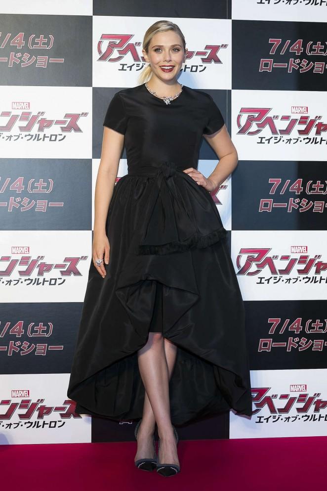 Elizabeth -Olsen- In -Christian -Dior- at - 'Avengers: Age- of -Ultron'- Tokyo- Premiere