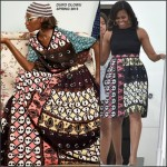 FLOTUS Michelle Obama in Duro Olowu Visiting Italy
