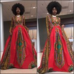 High School student Kyemah Mcentyre stuns in African inspired Prom gown