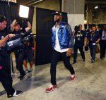 Lebron James in  Tackma  Varsity Jacket –  2015 NBA FINALS GAME 5