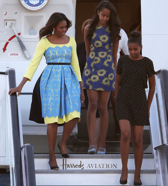 First- Lady -Michelle -Obama -arrives to -the -UK-