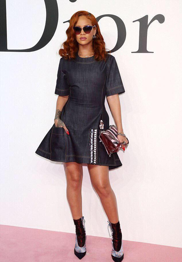 Rihanna Rocking Dior At Dior F W 2015 Repeat Show In Tokyo Fashionsizzle